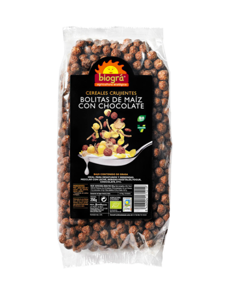 Bolitas de maíz con chocolate 250g