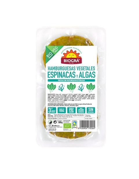 Hamburguesa vegetal de Espinacas y Algas
