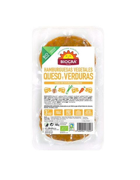 Hamburguesa vegetal de Queso y Verduras