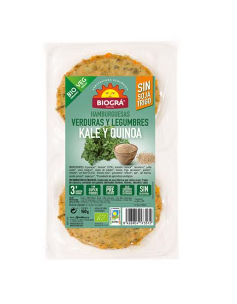 Hamburguesa de verduras y legumbres. Kale y Quinoa