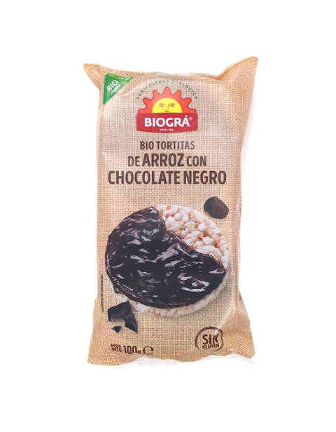 Tortitas de Arroz con Chocolate Negro